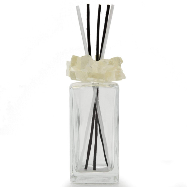 Closeup photo of Calcite Gemstone Scent Diffuser With Selenite & Wooden Sticks