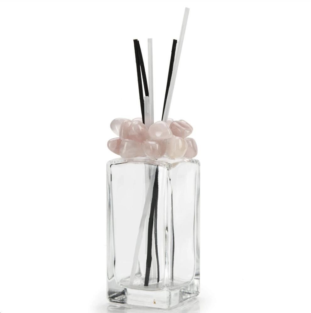 Image 2 for Rose Quartz Gemstone Scent Diffuser With Selenite & Wooden Sticks