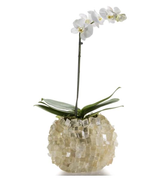 Closeup photo of Calcite Cube Gemstone Vase -Oval
