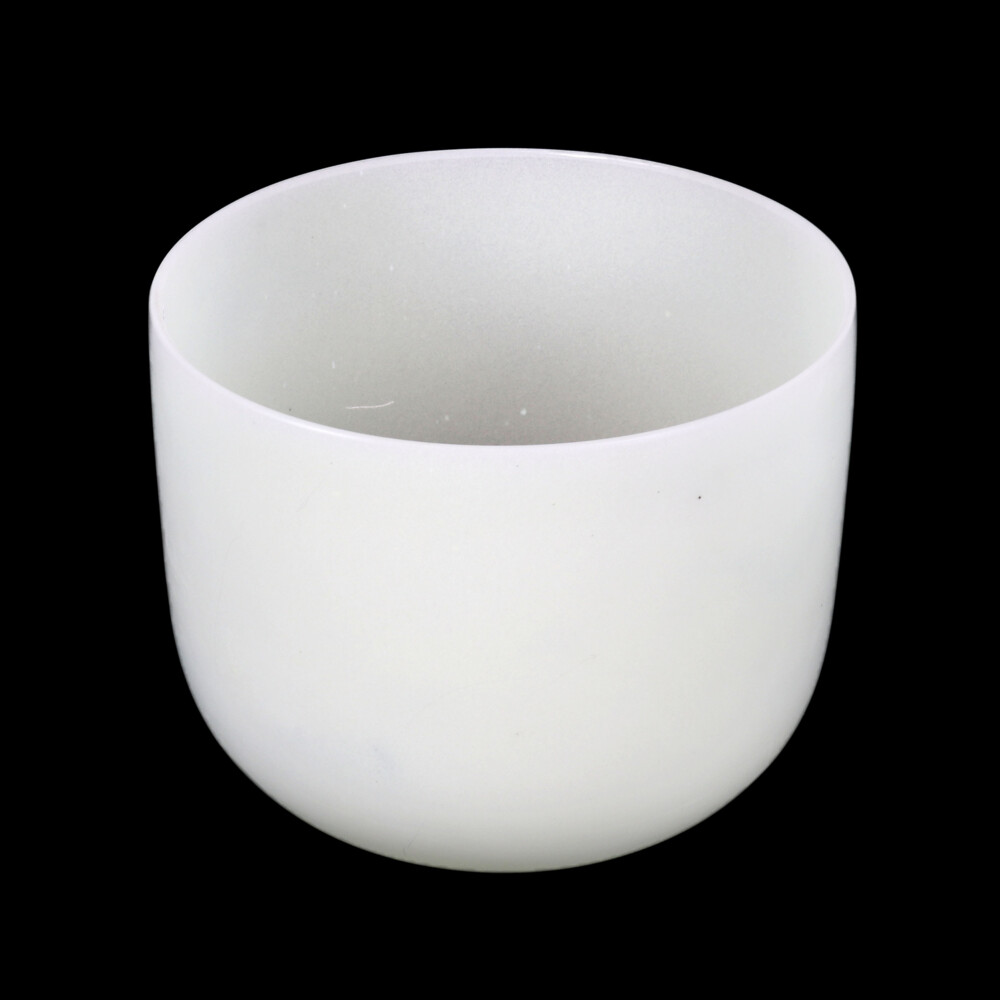 """10"""" Frosted Quartz Singing Bowl Note B Perfect"""