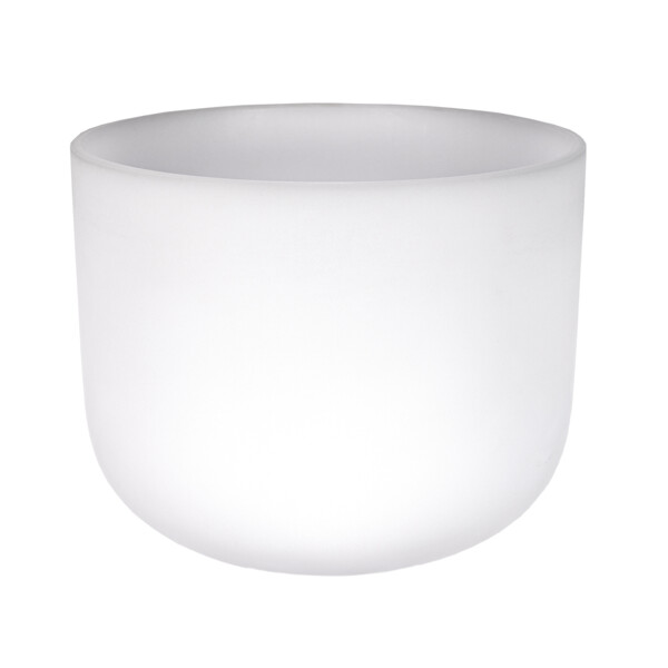 """Closeup photo of 10"""" Frosted Quartz Singing Bowl Note F Perfect"""