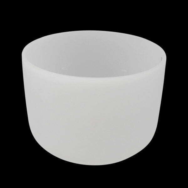 "Closeup photo of 12"" Frosted Quartz Singing Bowl Note E Perfect"