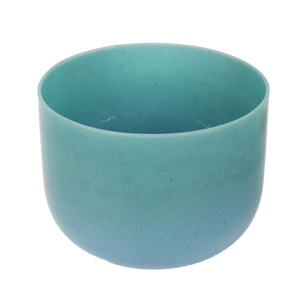 "Image 2 for 10"" Gem Infused Quartz Singing Bowl Note E Perfect Turquoise C01"