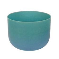 """Closeup photo of 10"""" Gem Infused Quartz Singing Bowl Note E Perfect Turquoise C01"""