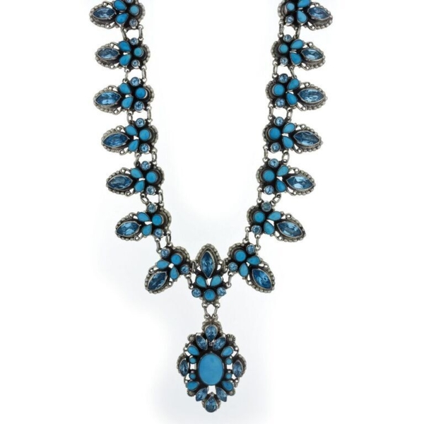 Closeup photo of Leo Feeney Necklace With Sleeping Beauty Turquoise And Blue Topaz