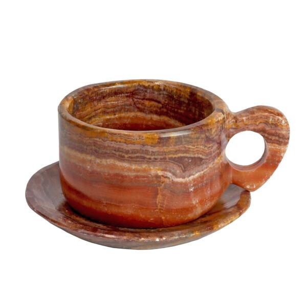 Closeup photo of Onyx Teacup Set -Red Talan