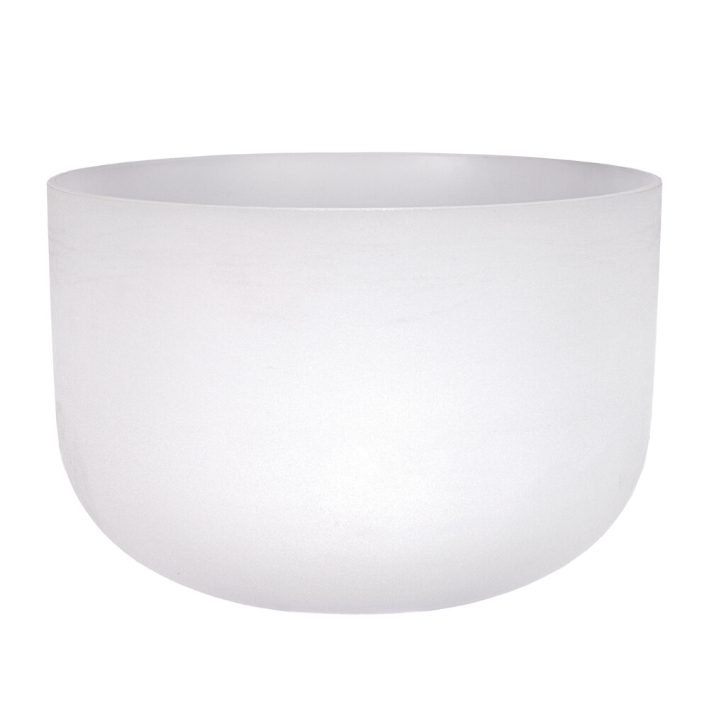 18'' Frosted Quartz Singing Bowl F Note