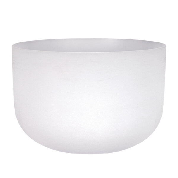 """Closeup photo of 18"""" Frosted Quartz Singing Bowl F Note"""