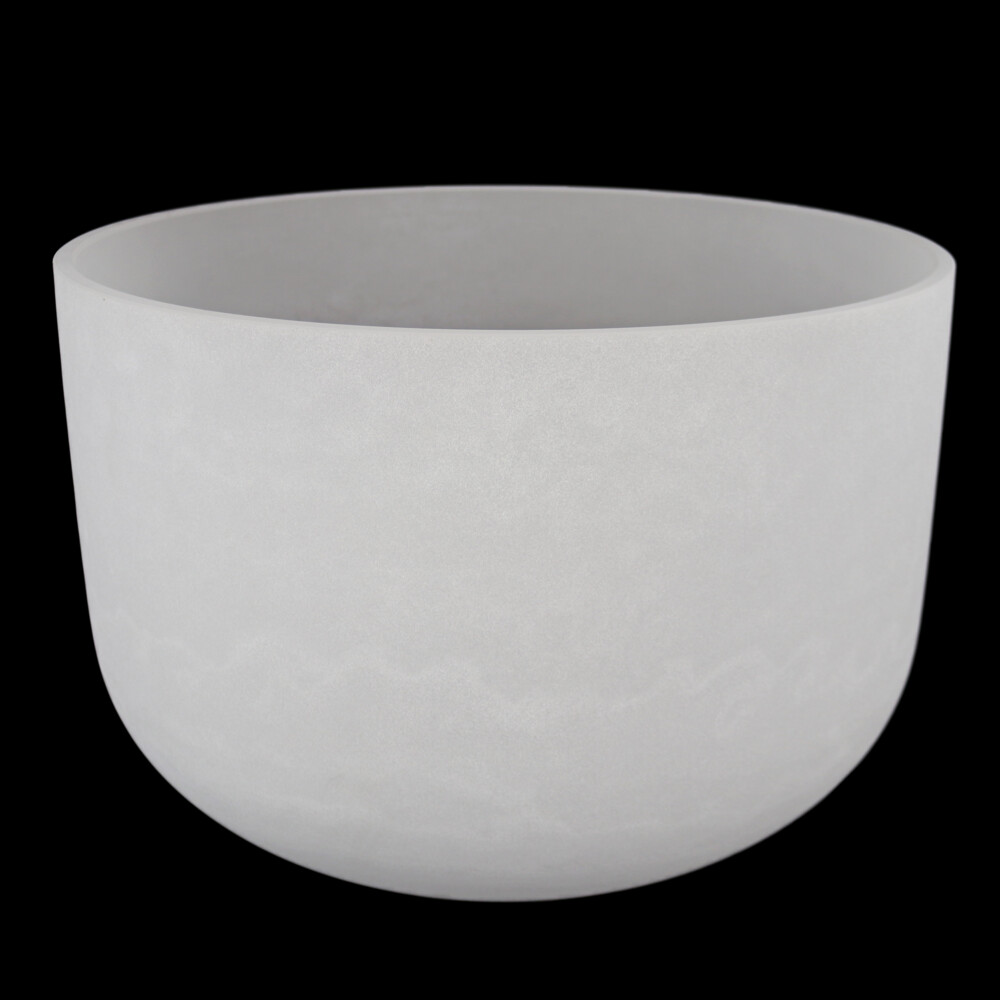"""18"""" Frosted Quartz Singing Bowl F Note"""