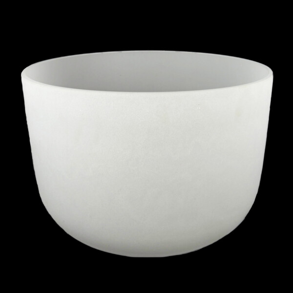 """Closeup photo of 20"""" Frosted Quartz Singing Bowl Note F"""