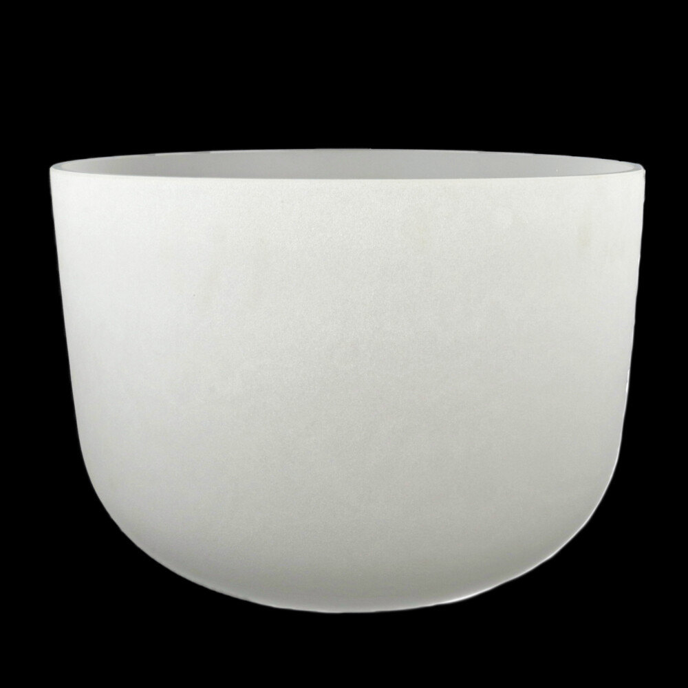 """20"""" Frosted Quartz Singing Bowl Note F"""