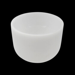 "Closeup photo of 8"" Frosted Quartz Singing Bowl Note G Perfect"