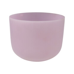 "Closeup photo of 10"" Gem Infused Quartz Singing Bowl Note G Rose Quartz A07"