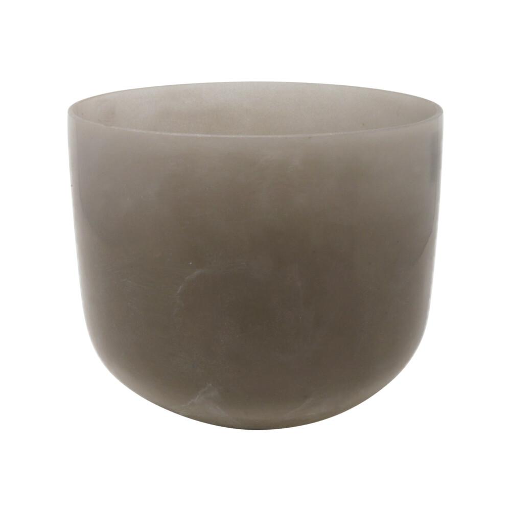 "8"" Gem Infused Quartz Singing Bowl Note G Perfect Obsidian C06"