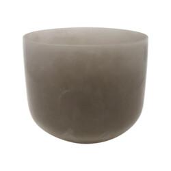 "Closeup photo of 8"" Gem Infused Quartz Singing Bowl Note G Perfect Obsidian C06"