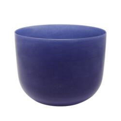 """Closeup photo of 8"""" Gem Infused Quartz Singing Bowl Note B Lapis Lazuli C03"""