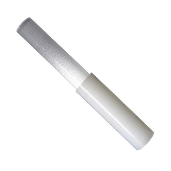 Closeup photo of Silicone Striker Tool with Quartz Hand-blown Selenite Handle