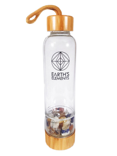 Closeup photo of Chakra Alignment Crystal Water Bottle