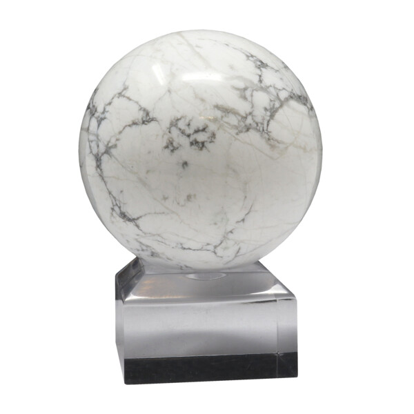 Closeup photo of Howlite Sphere