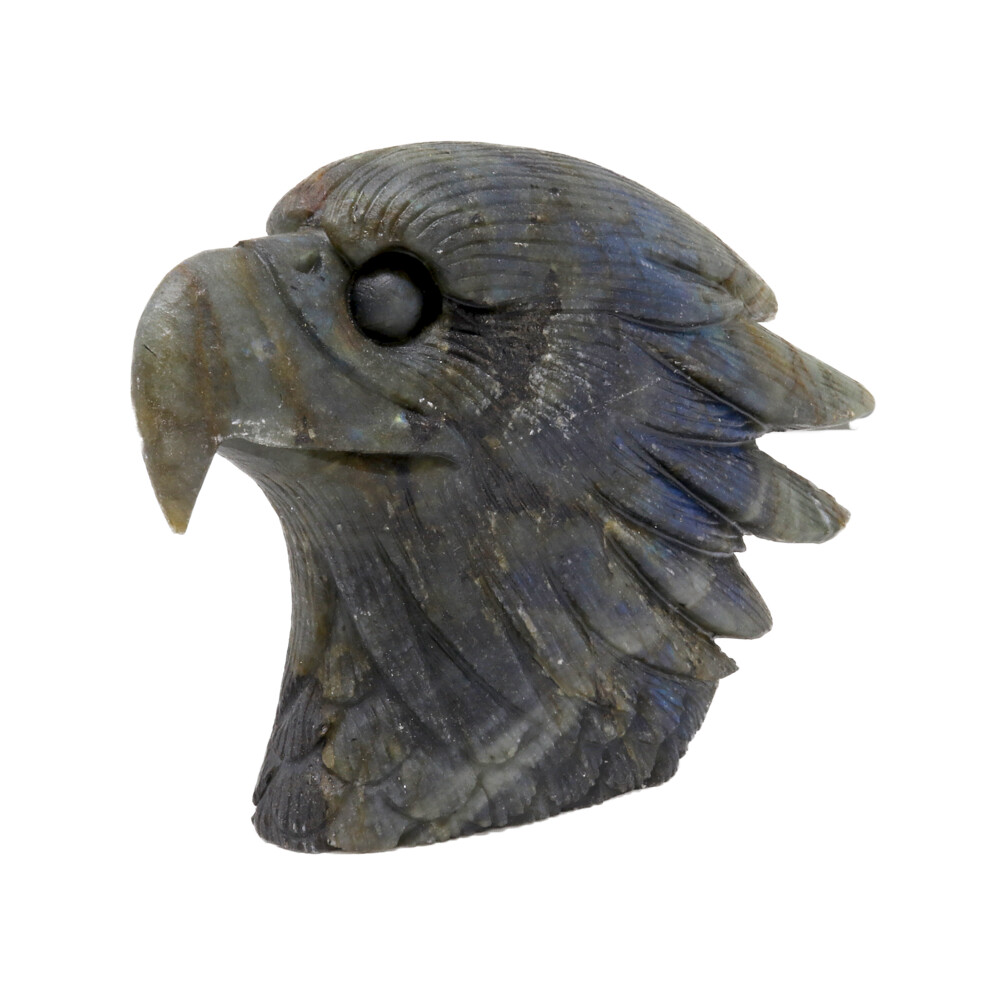 Labradorite Eagle Head Carving