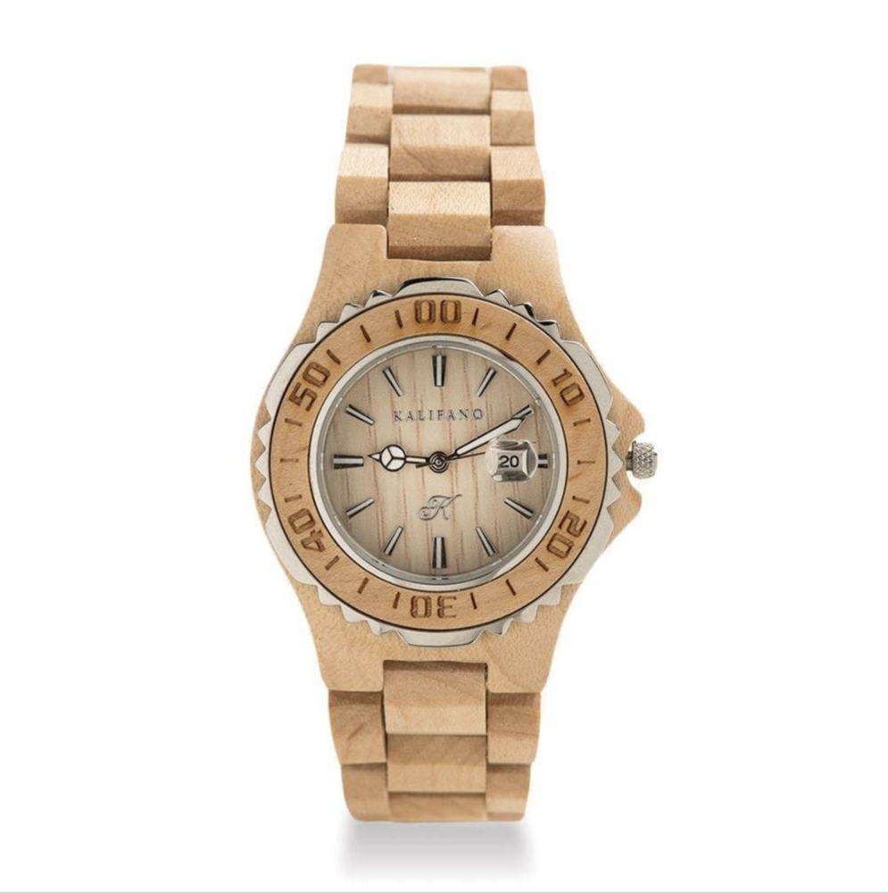 Maple Wood Watch With Bamboo Box
