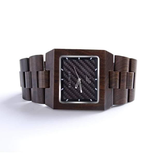 Closeup photo of Empire Black Sandalwood Watch With Bamboo Box