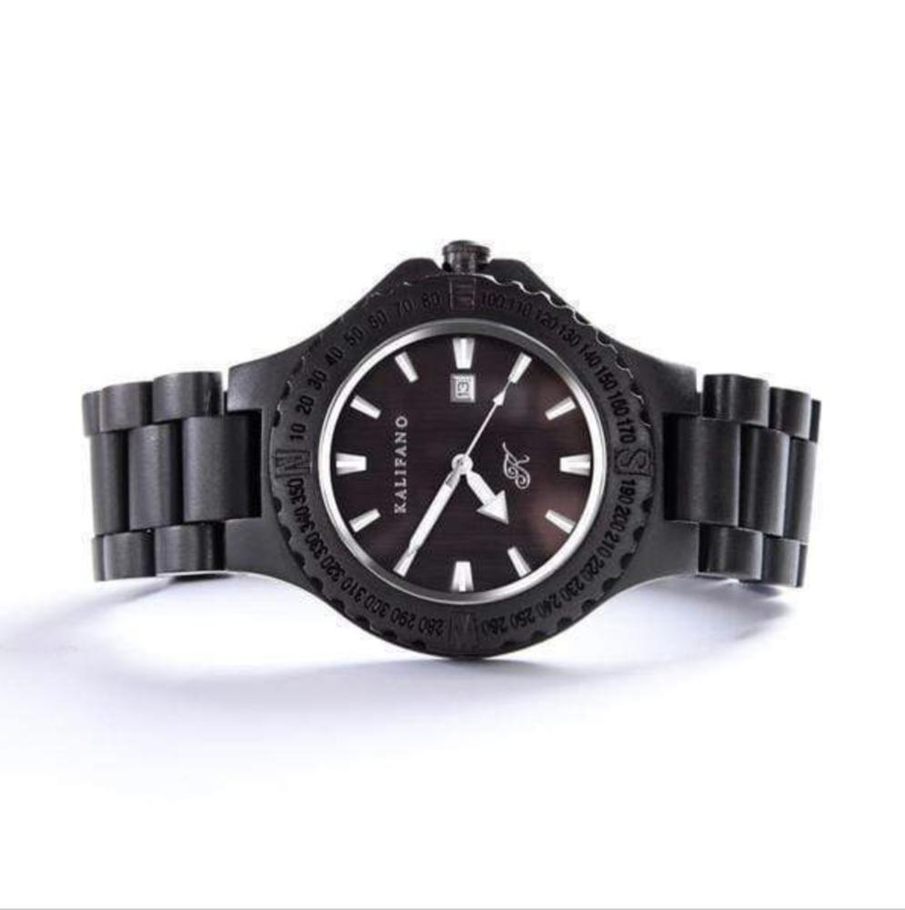 Explore Black Sandalwood Watch With Bamboo Box