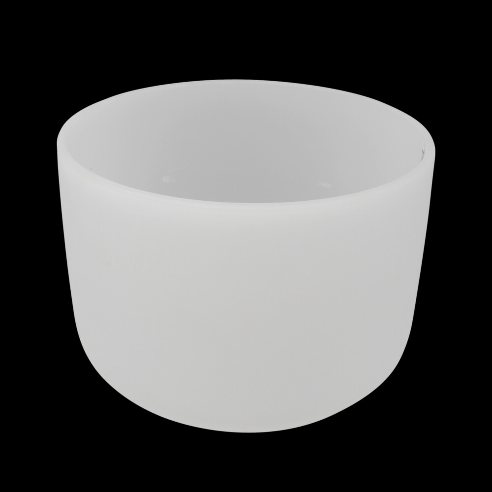"""10"""" Frosted Quartz Singing Bowl Note F -30"""