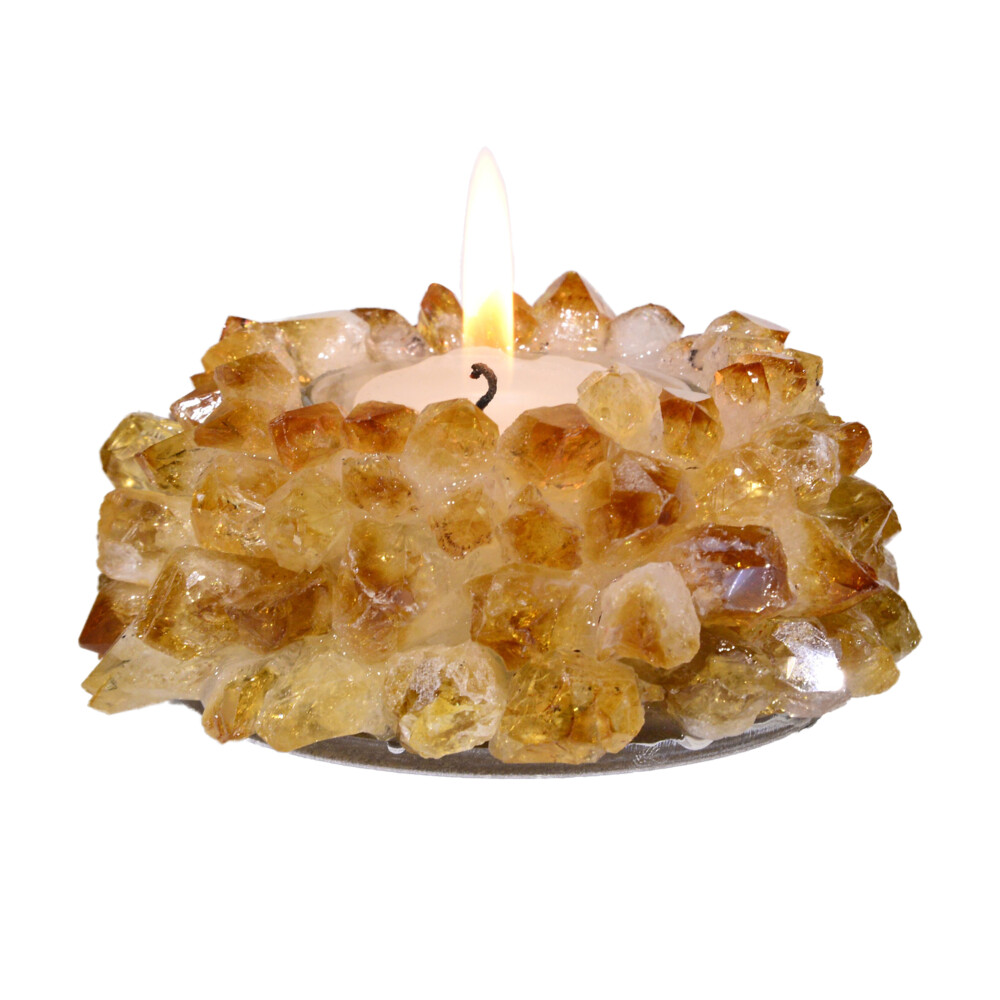 Citrine Crystal Point Candle Holder
