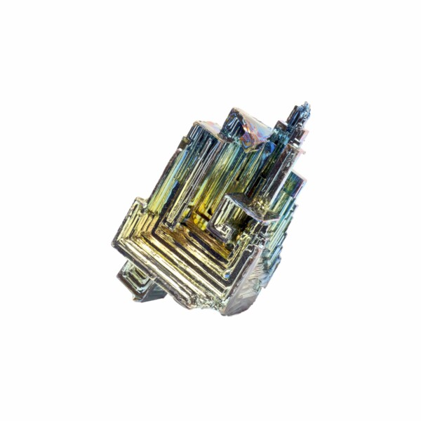 """Closeup photo of Bismuth Hopper Crystal  1.5"""" To 1.75"""""""