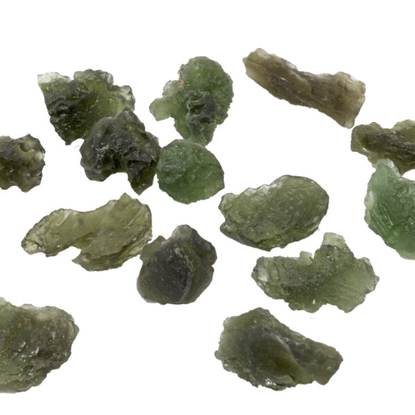 Closeup photo of Moldavite Tektite Nugget Small (Singles)