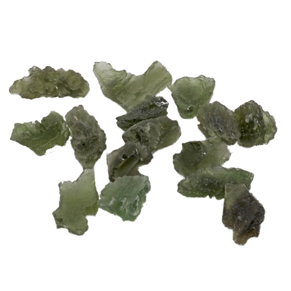 Closeup photo of Moldavite Tektite Nugget Extra Small (Singles)
