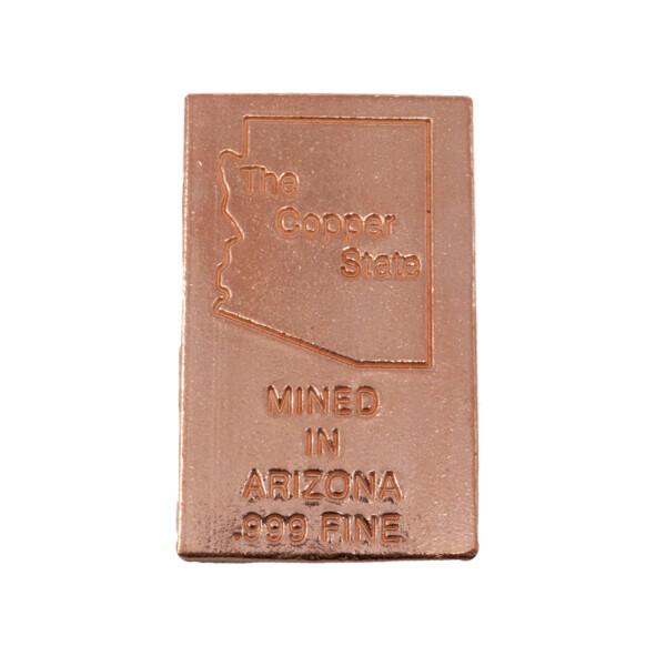 Closeup photo of Arizona Copper Ingot - One Ounce