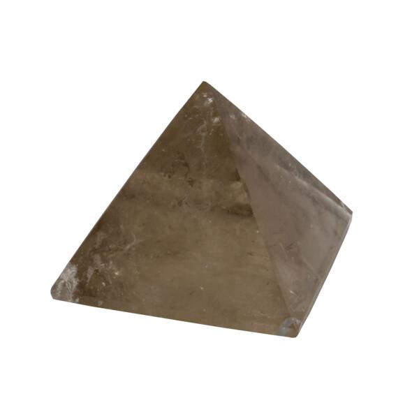 Closeup photo of Smoky Quartz Pyramid 38mm