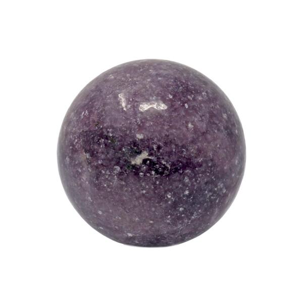 Closeup photo of Lepidolite Sphere 50mm Brazil