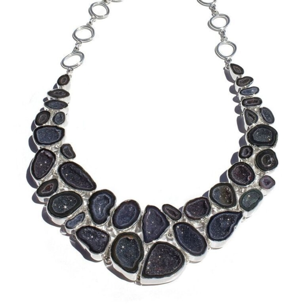 Closeup photo of Elaborate Geode Necklace Set With Earrings