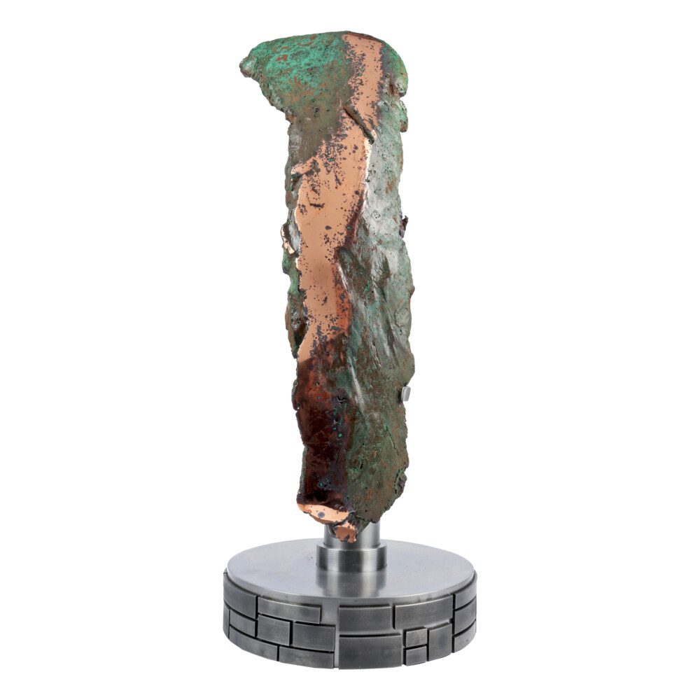 Natural Float Copper Arc On Custom Rotating Stand