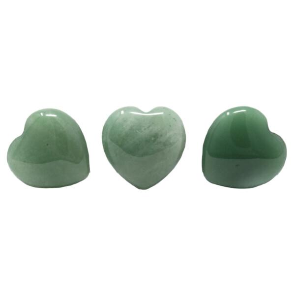 Closeup photo of Green Aventurine Heart 25mm (Singles)