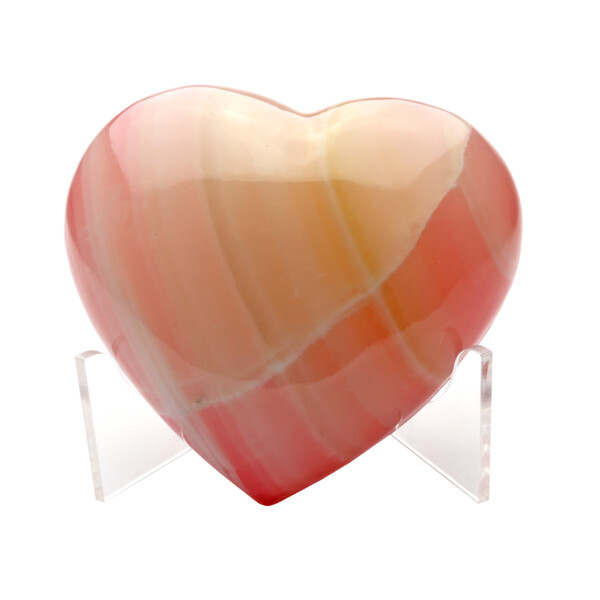 Closeup photo of Onyx Heart Dyed Pink Adhesive