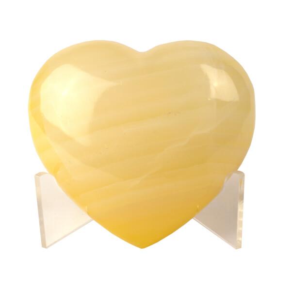Closeup photo of Onyx Heart Dyed Yellow Adhesive
