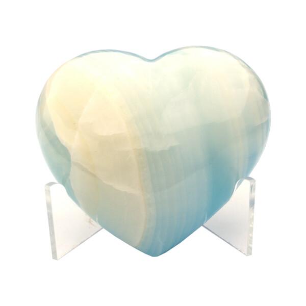 Closeup photo of Onyx Heart Dyed Blue Adhesive