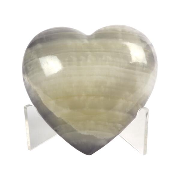 Closeup photo of Onyx Heart Dyed Purple Adhesive