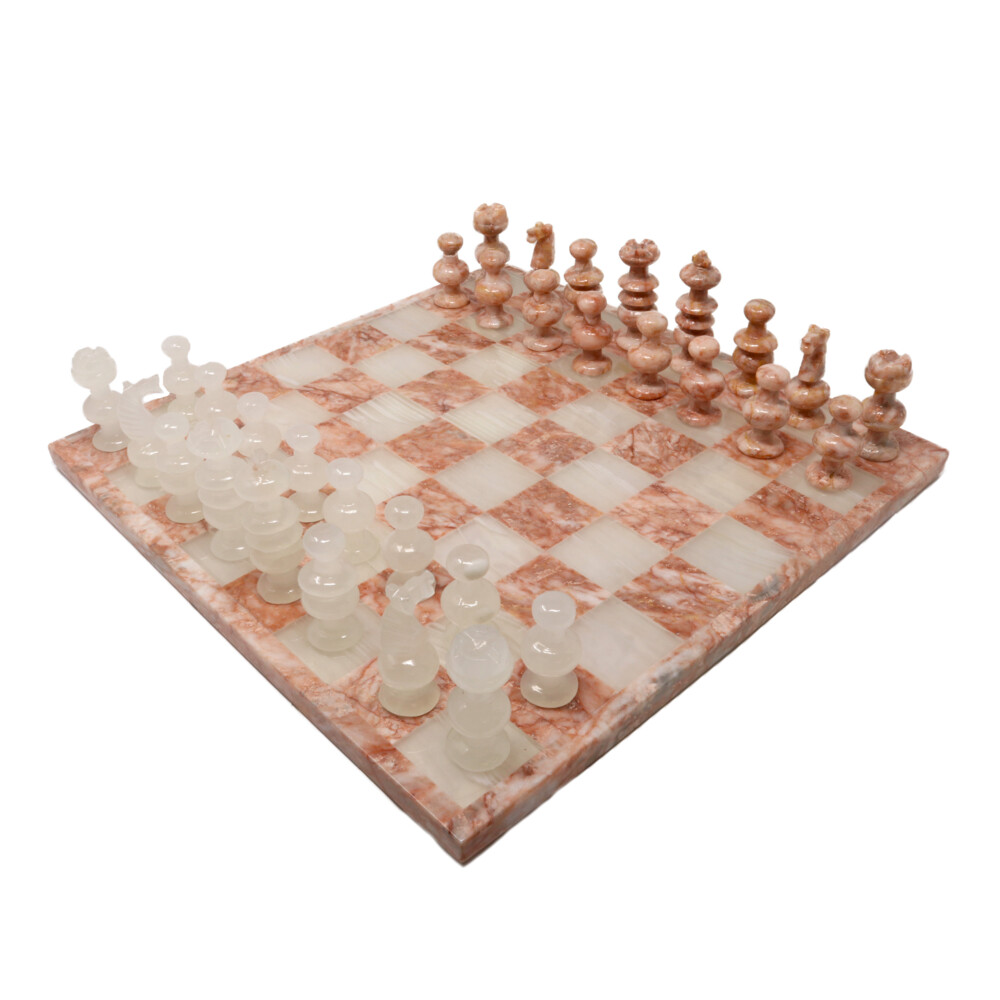 Onyx Chess Set Pink / White
