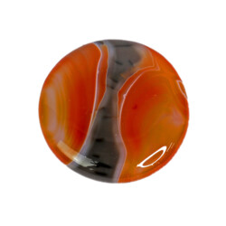 Closeup photo of Carnelian Round Disc Sardonyx 2""