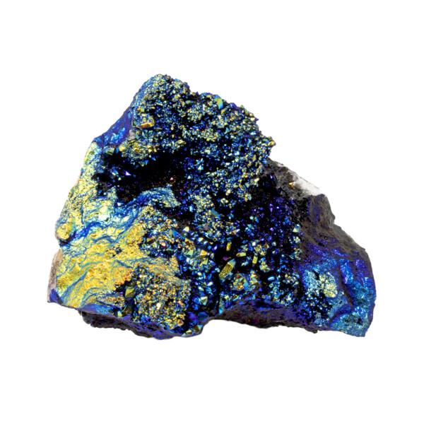 Closeup photo of Black Titanium Coated Moroccan Geode - Medium