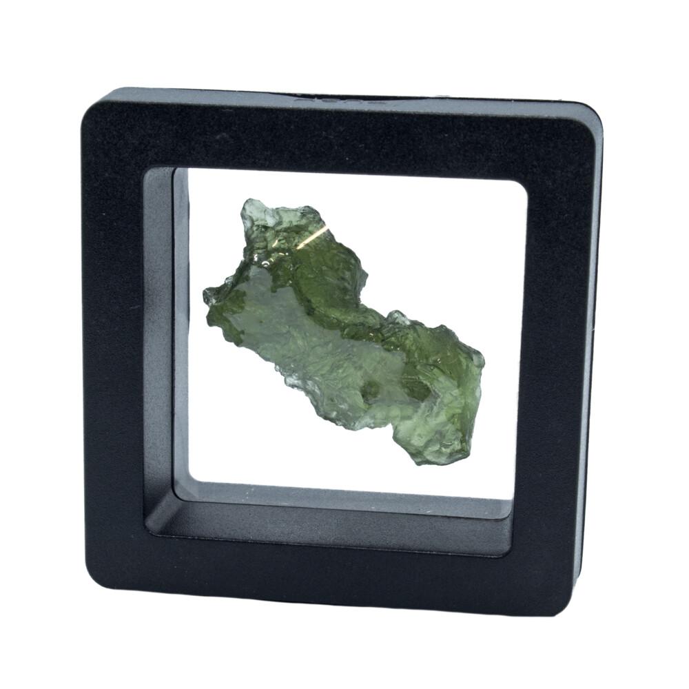 Moldavite Tektite Raw Nugget -Rugged in Gel Case
