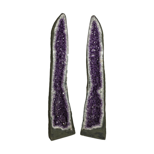 Closeup photo of Amethyst Cathedral Pair