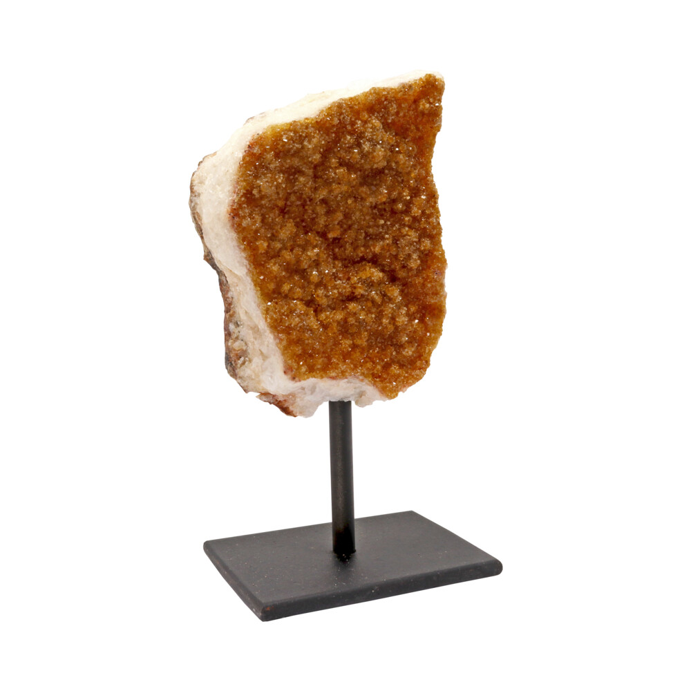 Crystal Citrine Plaque On A Post Stand