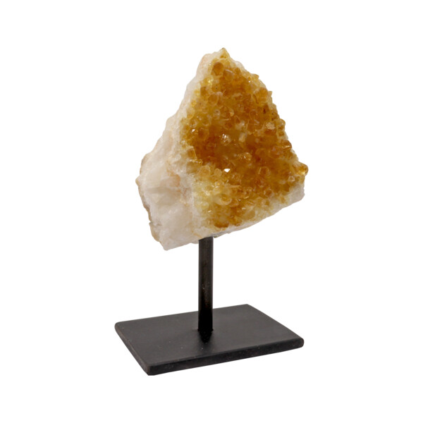 Closeup photo of Crystal Citrine Plaque On A Post Stand