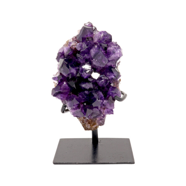 Closeup photo of Amethyst Cluster On A Fitted Stand